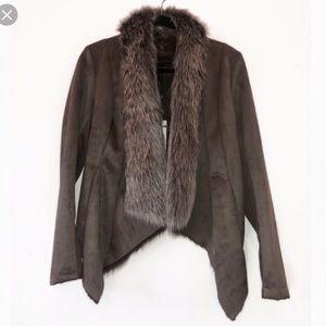 BCBG Allegra Faux Fur Jacket